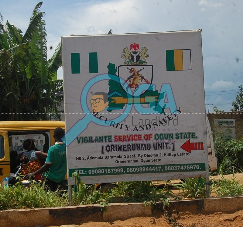 Vigilante Signpost_Landmarks at Orimerunmu, Near Ibafo, Ogun State