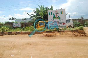 Bus stop at Orimerunmu, Near Ibafo, Ogun State