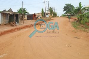 Access roads - A Compound with 3 Bungalows and an Upstairs Foundation for Sale at Igbogbo, Ikorodu, Lagos