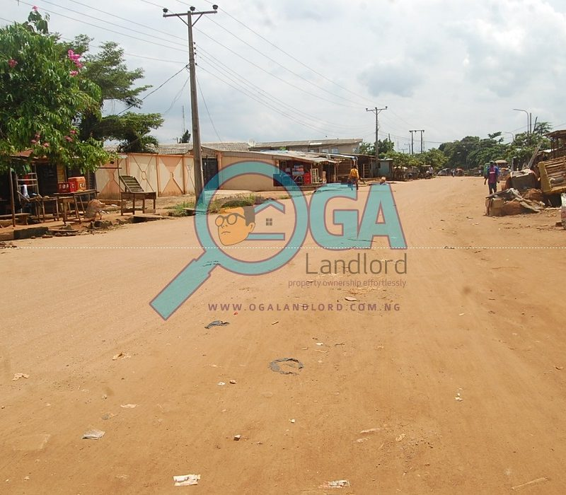 Bus stop - A Compound with 3 Bungalows and an Upstairs Foundation for Sale at Igbogbo, Ikorodu, Lagos
