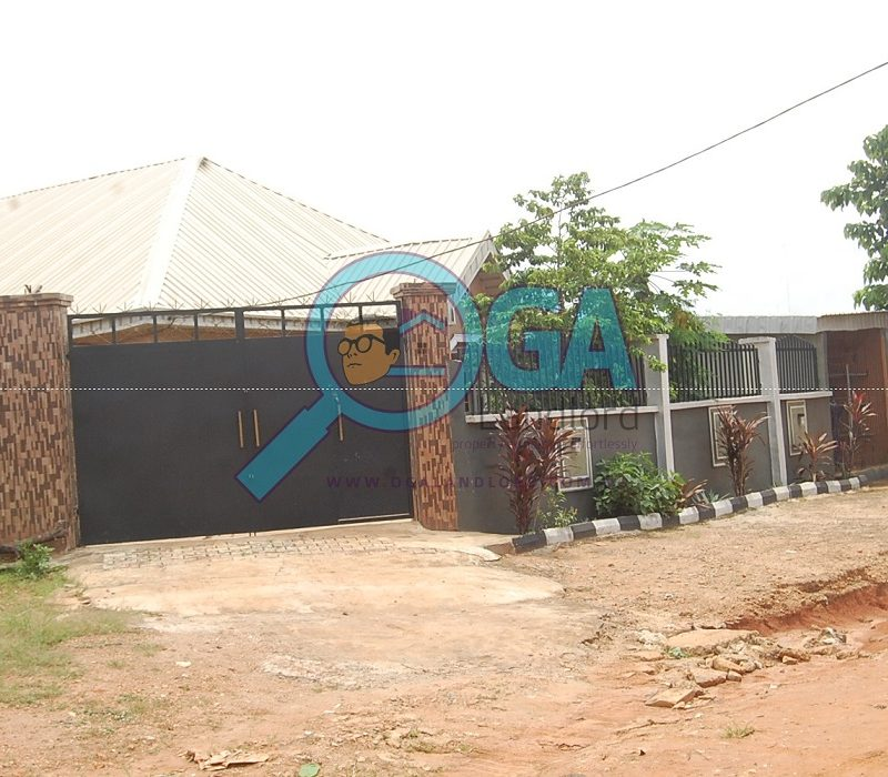 Neighbourhood - A Compound with 3 Bungalows and an Upstairs Foundation for Sale at Igbogbo, Ikorodu, Lagos